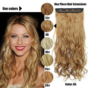 61 Centímetros 120 Gramas 1 peça Mega Hair Tic Tac Cabelo Sintético Ondulado Castanhos Claros/Loiros Escuros //Price: $95.89 & FREE Shipping