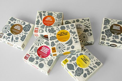 This organic food packaging concept uses linocut illustrations to accentuate the organic and hand-made aspect of the products. Designed by Mind Design.