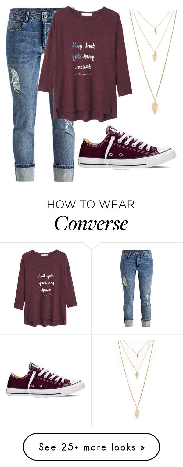 """cute"" by fashionlover4562 on Polyvore featuring Converse, MANGO, Forever 21, women's clothing, women, female, woman, misses and juniors"