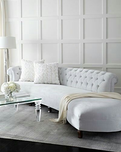 Haute House | Evelyn Sectional Sofa | gorgeous curved tufted couch