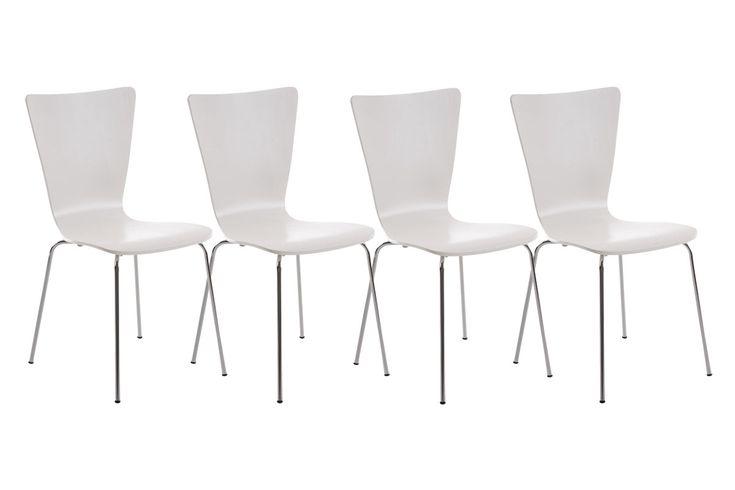 4x Besucherstuhl AARON Stapelstuhl mit Lehne Konferenzstuhl Stuhl stapelbar | eBay