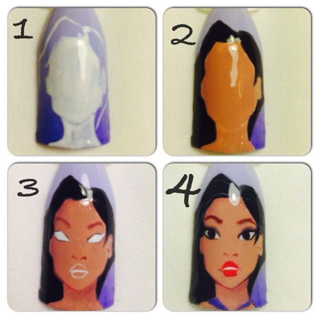 Disney Nail Art Tutorials: 315 Best Images About Disney Nails On Pinterest