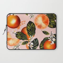 Citrus paradise. Tropical pattern with oranges Laptop Sleeve
