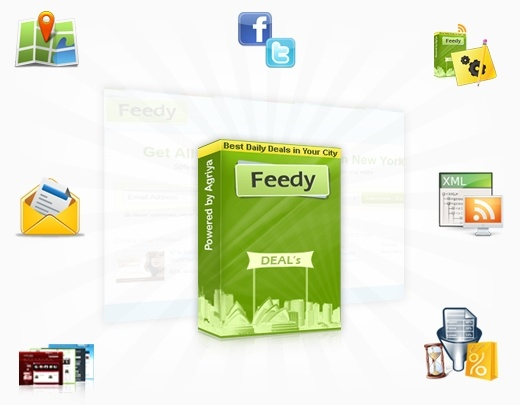 Feedy ,the deal aggregator script of yipit Clone allows you to organize daily deals from various websites like Groupon,Living Social etc..    http://customers.agriya.com/products/feedy