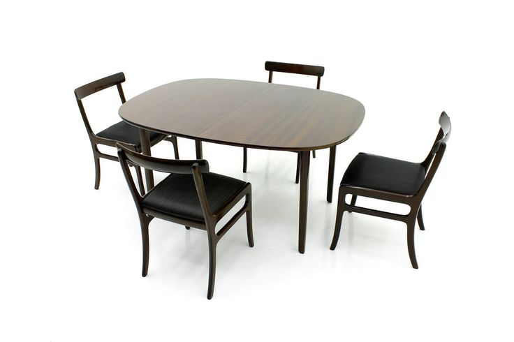 "Large Dining Room Set by Ole Wanscher ""Rungstedlund,"" Denmark 