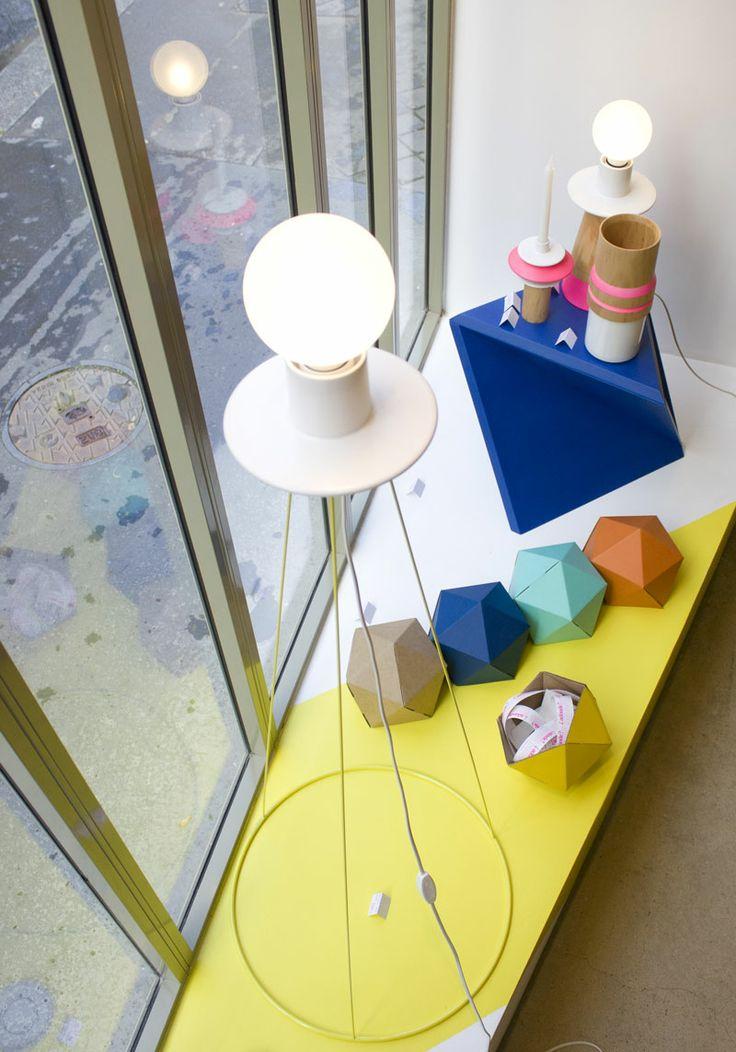 Lampe Sur Pied CERCLES, Vide Poche ICO, Tabouret OCTA N°2, Vase Et Bougeoir  Bois Et Grès, Lampe CÔNE, Design By ¿adónde? CERCLES Floor Lamp, ICO Desk  Tidy, ...