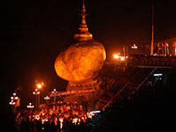 Kyaikhtiyo Pagoda Festival - The Golden Rock festival is celebrated around the middle of October.