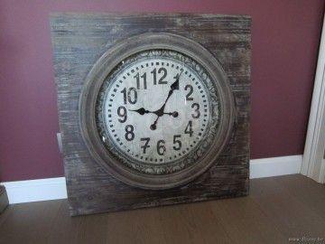 "J-Line Wandklok rond glas in vierkant hout grey wash ø71 <span style=""font-size: 0.01pt;"">Jline-by-Jolipa-60908-horloge-xxl-ronde-dans-cadre-carre-en-bois-gris</span>"