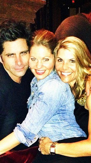 Look! It's Uncle Jesse, Aunt Becky, and DJ Tanner! Time to get excited for Fuller House... Can't wait to see John Stamos, Candace Cameron Bure, and Lori Loughlin sharing the screening again.