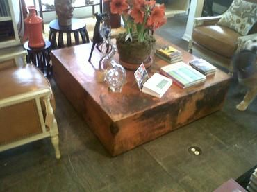 Captivating Square Copper Cube Coffee Table   Mecox Gardens