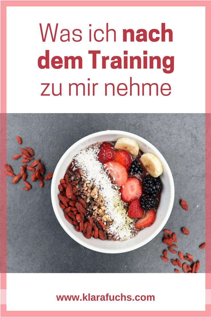Was ich nach dem Training zu mir nehme. Die besten Snacks und Mahlzeiten für eine optimale Regeneration. - KlaraFuchs.com - #regeneration #snacks #rezepte #gesund #ernährung