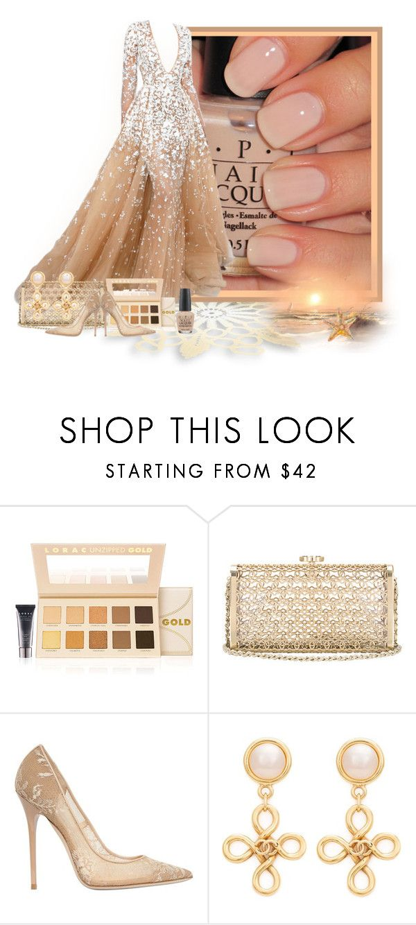 """Samoan Sand"" by loveroses123 ❤ liked on Polyvore featuring LORAC, Jimmy Choo, Chanel and OPI"