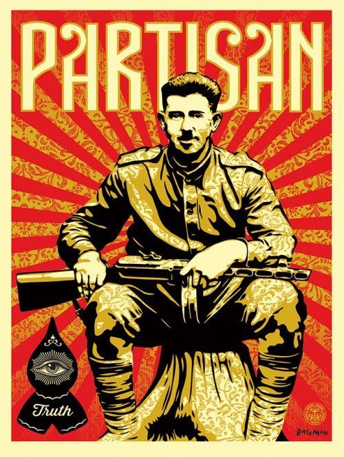 Shepard Fairey x Gary Baseman collaborate on Partisan (2013)