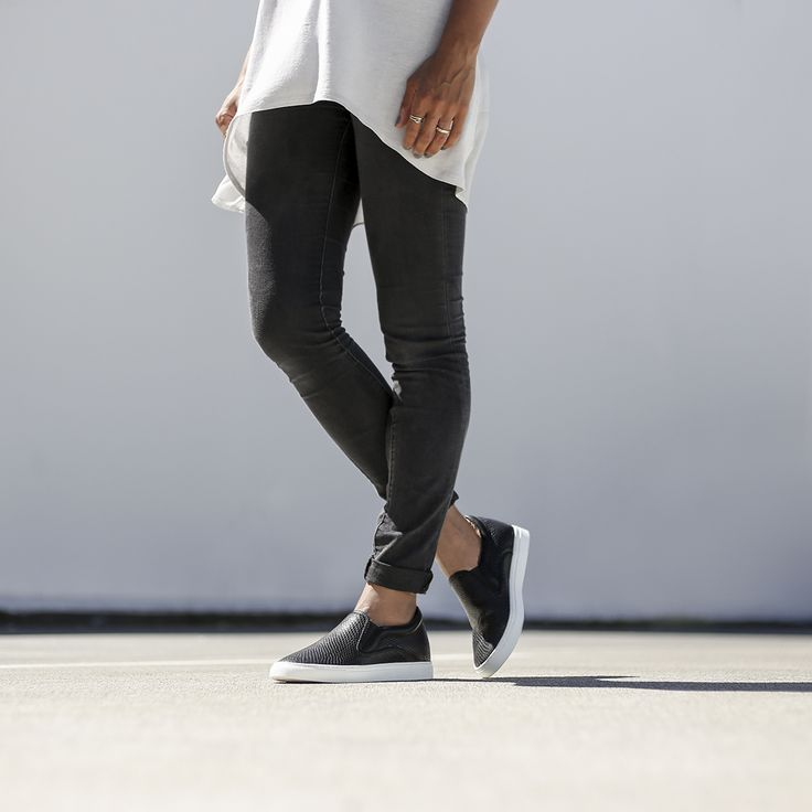 Get a little bit of extra height with the Miss Sofie - Skate slip-on - it's got a hidden wedge!