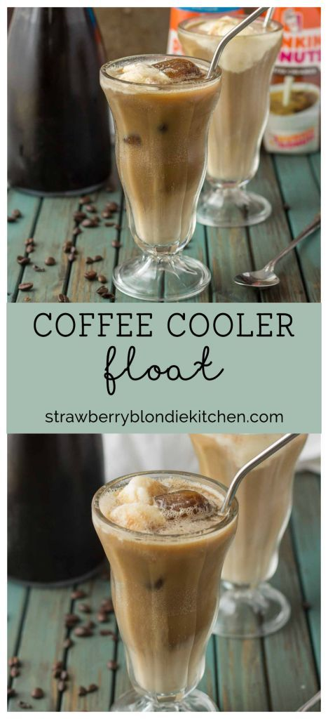 Keep your cool this summer by having your coffee and your dessert too with this Coffee Cooler Float. Cold brew is combined with root beer, cream and vanilla ice cream to give you the ultimate in coffee indulgence! | Strawberry Blondie Kitchen AD #DunkinCreamers @DunkinDonuts @walmart