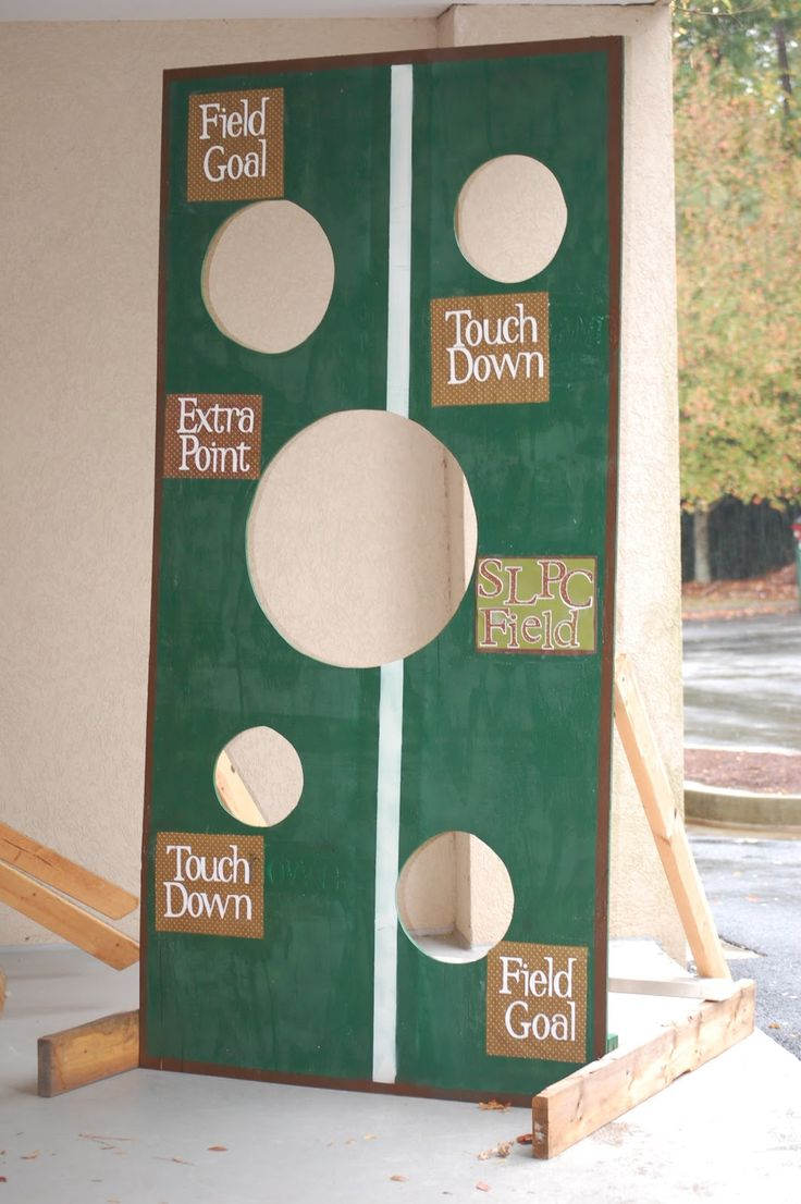 Perfect Football Toss Game for your Tailgating Party or Superbowl Party!  Just a few cute and a little color and you're set!