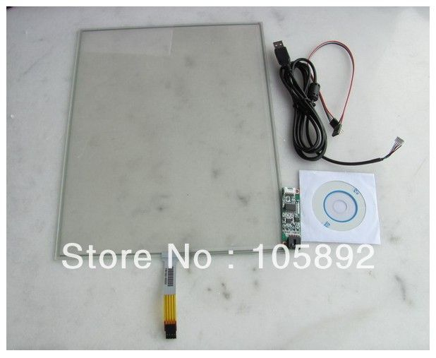 Free shipping 15 Inch 4 Wire LCD Resistive Touch Screen Panel USB Controller Especially for Digitizer US $55.64 /piece To Buy Or See Another Product Click On This Link  http://goo.gl/EuGwiH