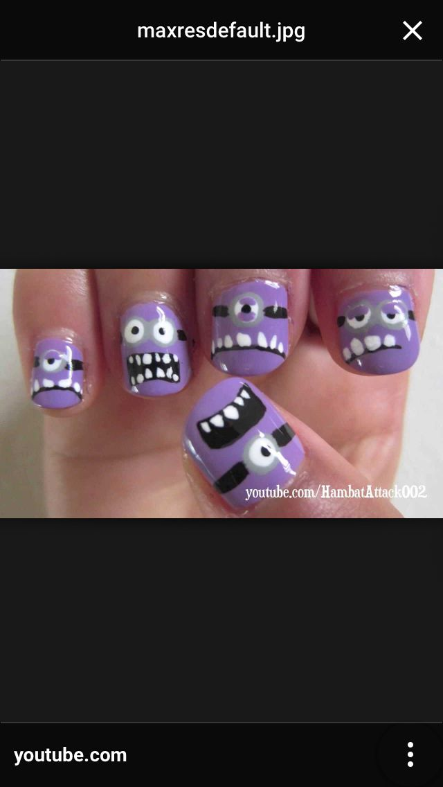 11 best purple evil minion nail art designs images on