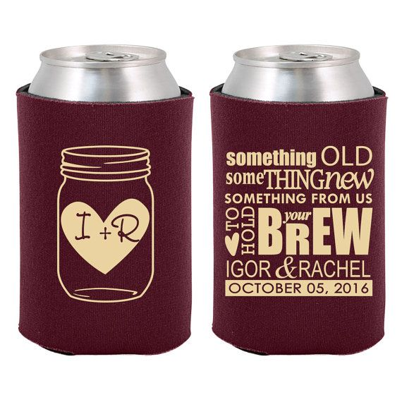 1000 images about wedding favors on pinterest rustic for Beer koozie wedding favors