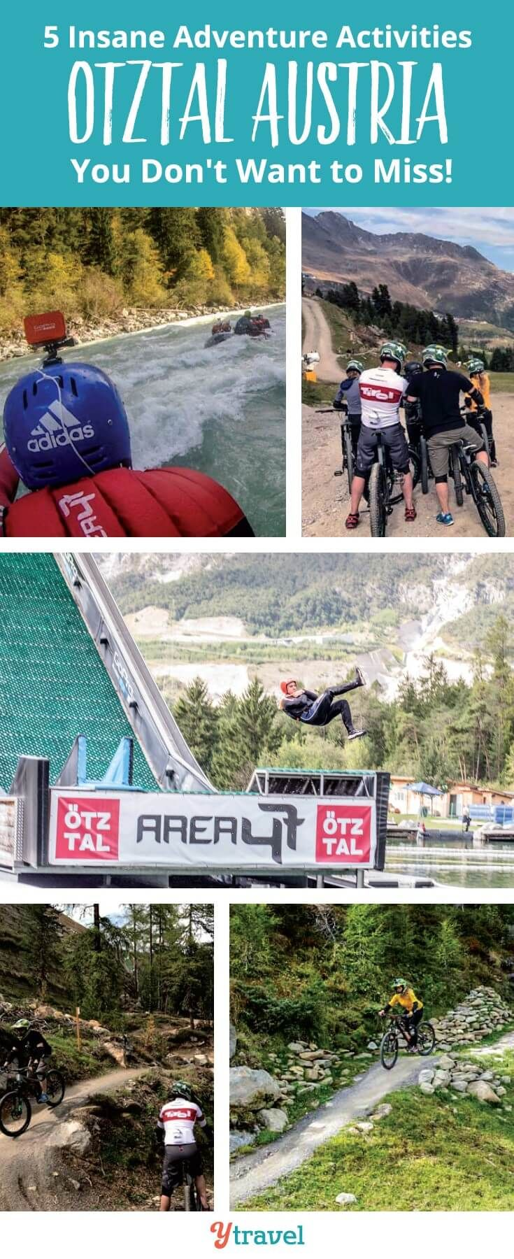 Planning a trip to Austria? If you love adventure activities, Tirol is the place for you to visit. Don't miss the Otztal Valley region for the famous Area 47 extreme water park, downhill mountain biking, ebiking and more