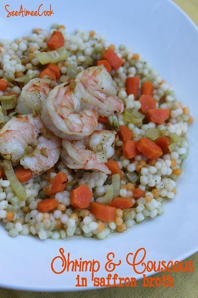Shrimp & Couscous in Saffron Broth