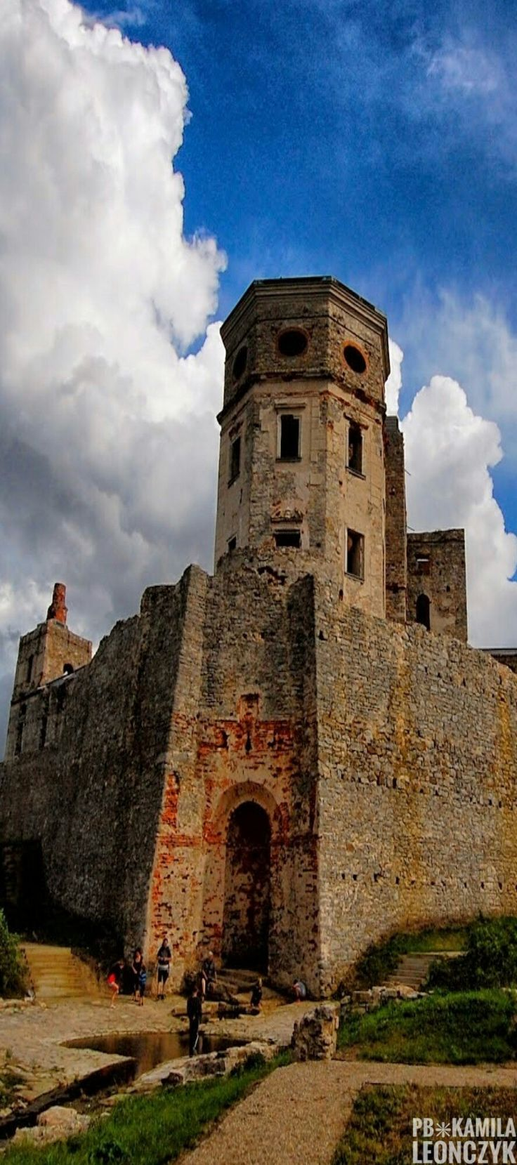 Krzy�top�r Is A Castle Located In The Village Of Ujazd, Iwaniskamune,  Opat�w County