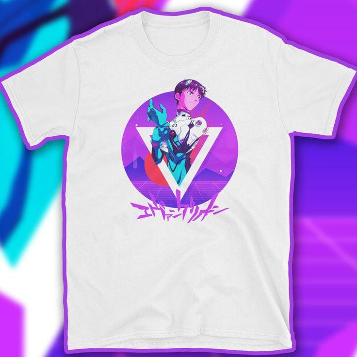 Evangelion tshirt vaporwave aesthetic neon genesis