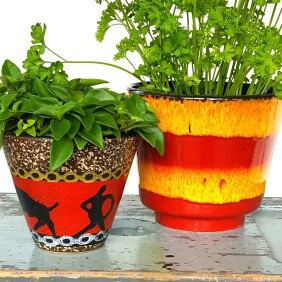 Take the summer with you inside....lots of new planters in my shop!