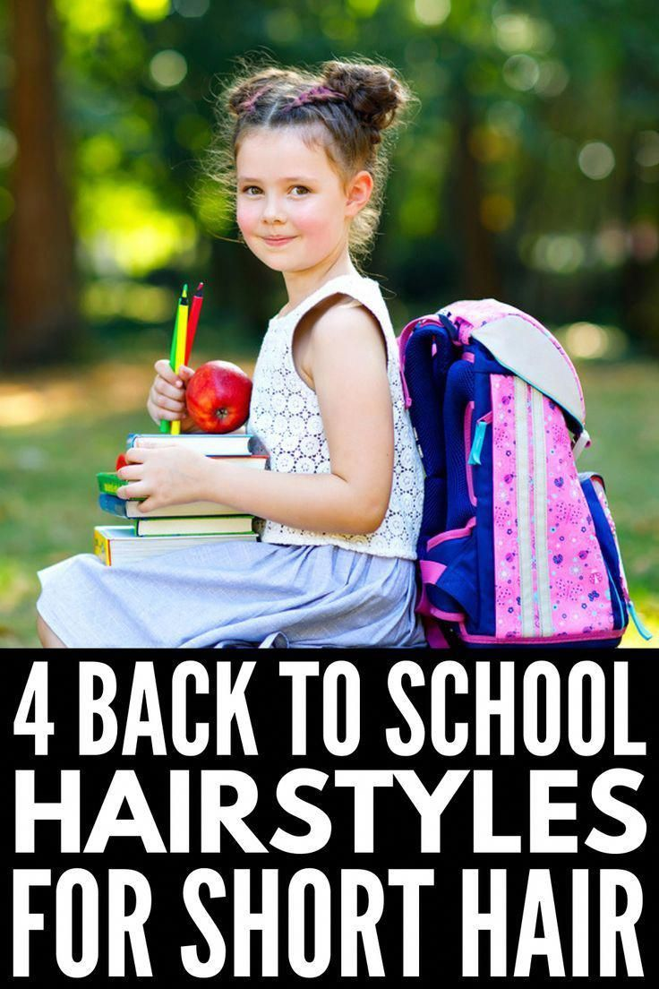 4 Back to School Hairstyles for Short Hair | If your little one sports a bob or …