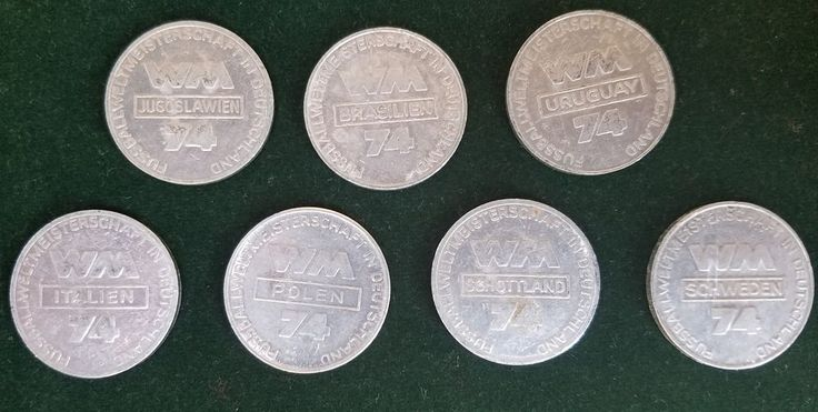 SOCCER FIFA FOOTBALL GERMANY 1974 WORLD CUP RARE LOT 7 TOKEN MEDAL COLLECTION  | eBay