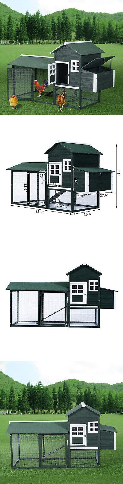 Backyard Poultry Supplies 177801: Chicken Coop 84? Wooden Backyard Nest Box House Hen Poultry Wood Hutch Nesting BUY IT NOW ONLY: $249.99