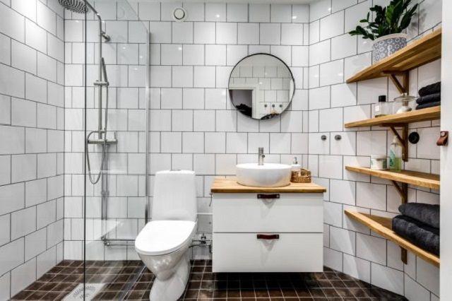 Desain Kamar Mandi Minimalis Modern Gaya Skandinavia - InteriorDesign.id | Kamar Mandi Skandinavia, Desain Kamar Mandi Modern, Kamar Mandi Minimalis