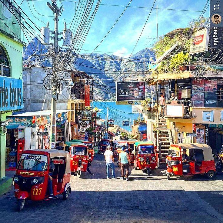http://OkAtitlan.com #Follow @dieglda: Tuk-tuk anyone? #SanPedroLaLaguna #Lake #Atitlan #Guatemala #ILoveAtitlan #AmoAtitlan #LagoAtitlan #CentralAmerica #Travel #LakeAtitlan