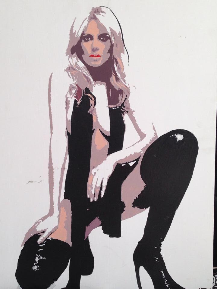 Antonello Marigliani: Modella (2012). Acrilico su legno