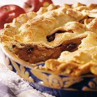 Autumn Apple Pie - Dried cranberries or cherries add a tart twist to ...