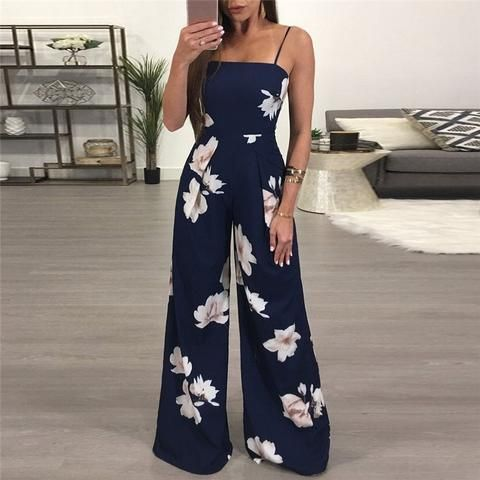 1722af5378d9 2018 Women Rompers Sexy Party Beach Jumpsuits Summer Floral Long Bodysuit  Casual feminino Playsuit  Y05