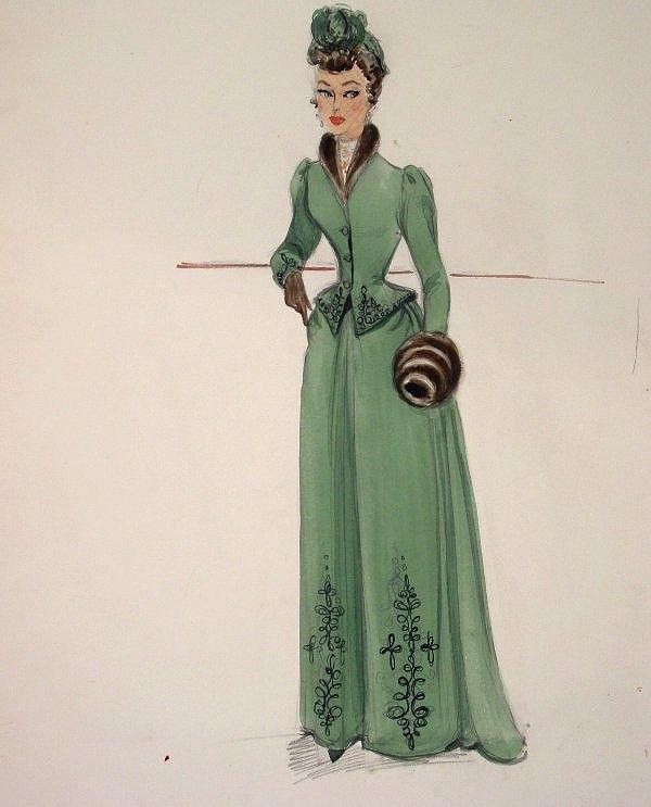 Edith Head sketch