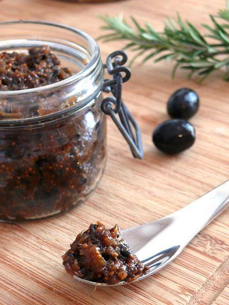 Chutney olives noires et figues