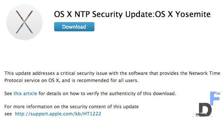 Apple NTP bug. Automated update.