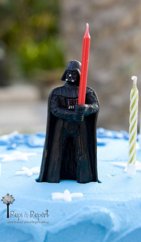 Star Wars party ideas darth vader candle holder