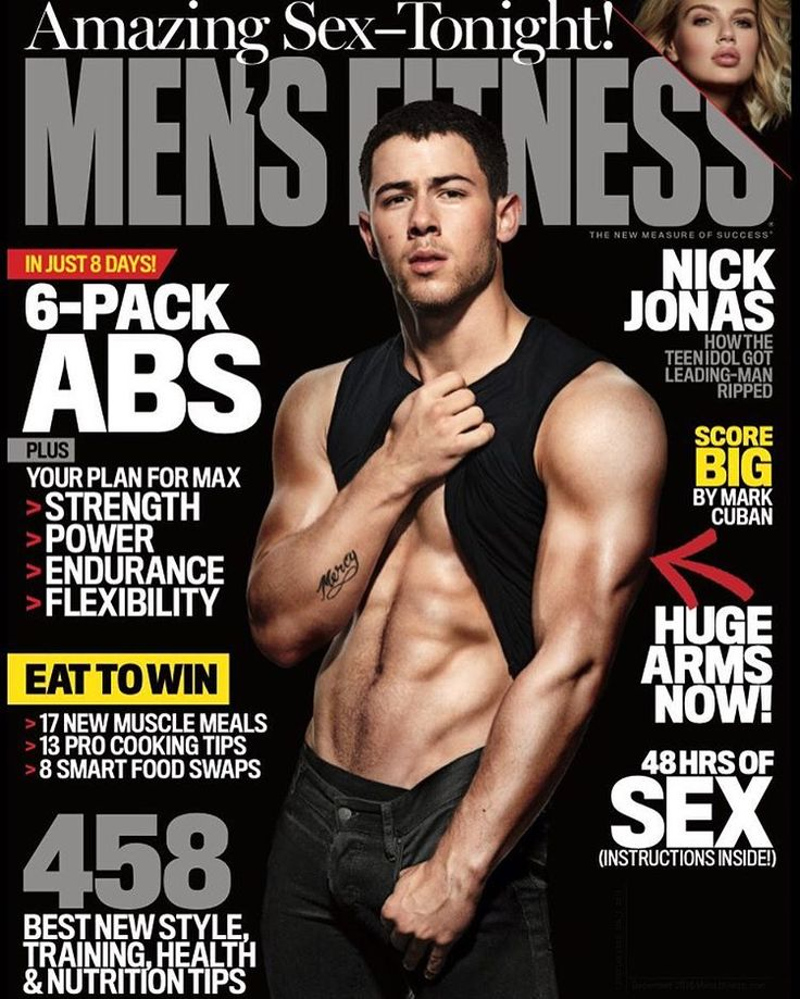 Nick Jonas Serves Up A Slice Of His Washboard Abs For Men's Fitness Magazine!  | PerezHilton.com