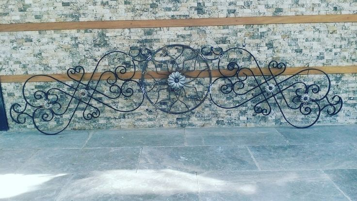 Wrought iron pediment