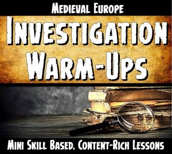 These Medieval World History Warm-Ups or Bell-Ringers are skill-based content rich mini lessons! They were created to enforce skills that my colleagues and I felt students were just not getting. Each Warm-Up is Key Concepts for Social Science based (geography, achievements, economy, government, religion and social classes) and skill focused.