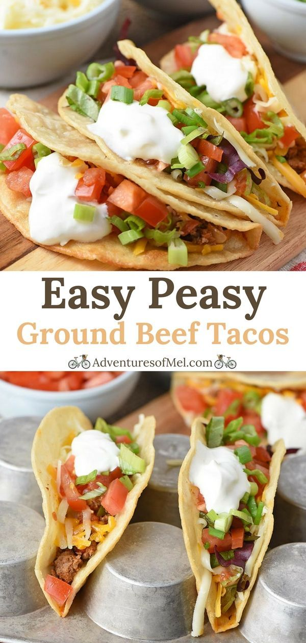 The Best Ground Beef Tacos Ever Made With Crispy Fried Corn Tortilla Shells Seasoned Hambur Ground Beef Tacos Easy Taco Recipes Beef Taco Recipes Ground Beef