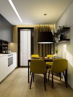 дизайн интерьера кухни 9 кв. м.