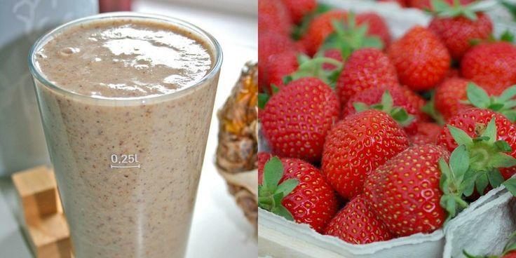 Batido de frutas y avena para regular el organismo y cuidarse