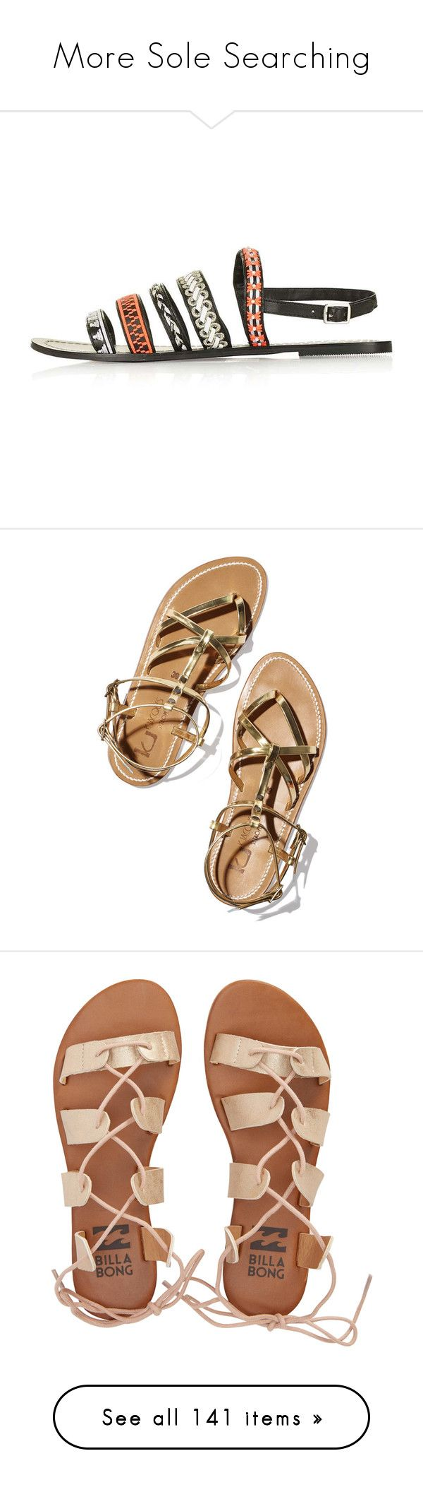 """""""More Sole Searching"""" by happilyjynxed ❤ liked on Polyvore featuring shoes, sandals, flats, topshop shoes, topshop sandals, strap flat shoes, multi-strap sandals, t-strap flats, summer sandals and roman sandals"""
