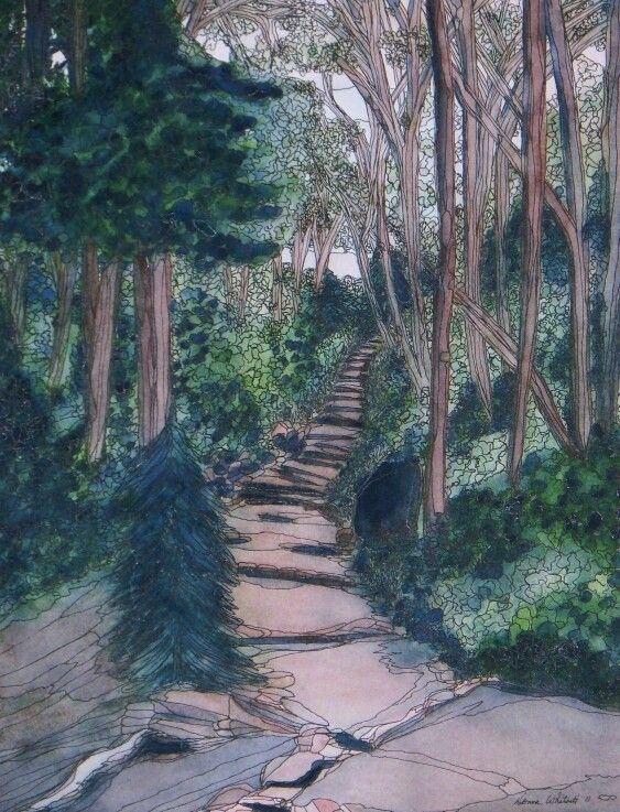 """Chosen Path""  Watercolor & Ink 16"" x 20"""