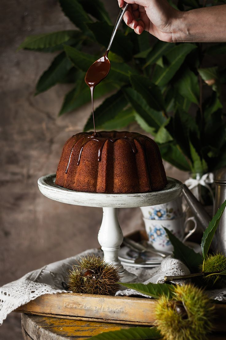 Bizcocho de castañas y chocolate | Kanela y Limón | Bloglovin'