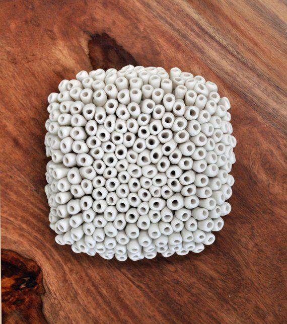 Flechte – Feinsteinzeug – Keramikwand Skulptur Porzellan Wandkunst   – Products